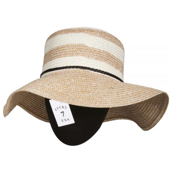 Women's Floppy Beach Sun Hat (Min Order 42 pcs-7 colors) SH 30