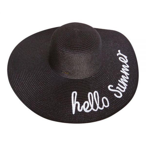 Women's Floppy Beach Sun Hat Hello Summer (Min Order 36- pcs 6 colors) SH 88 Hello Summer