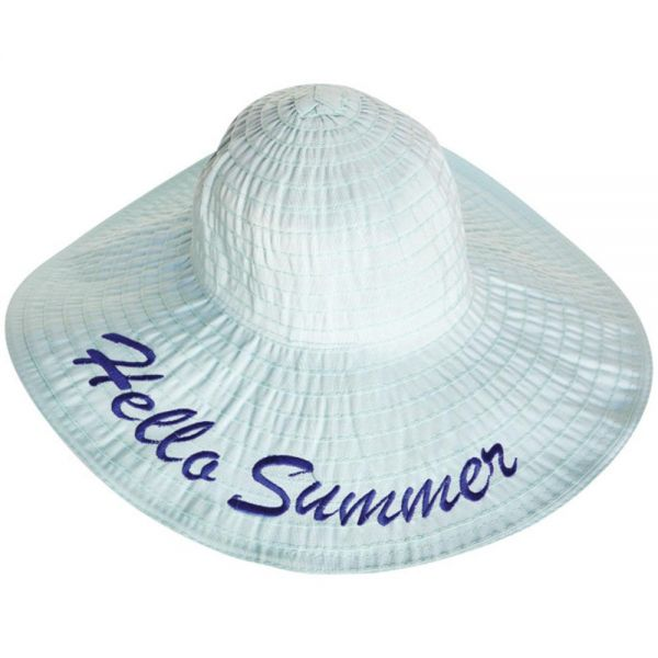 Women's Floppy Beach Sun Hat Hello Summer (Min Order 30 pcs -5 colors) YD 164 Hello Summer