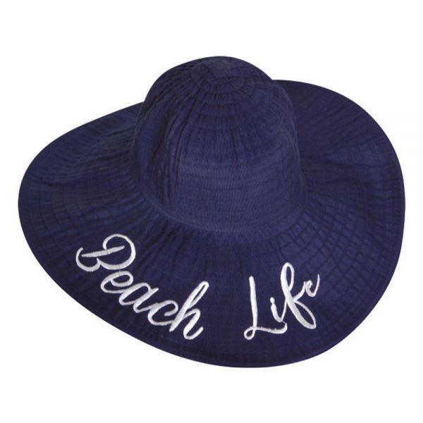Women's Floppy Beach Sun Hat Hello Beach Life (Min Order 30 pcs-5 colors) YD 164 Beach Life