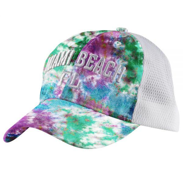 Custom Logo Tie Dye Mesh Back Cap (6 colors) CHB 361