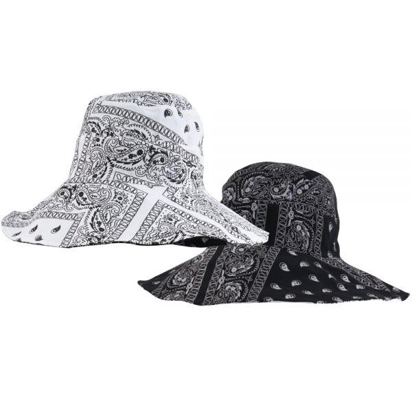 Reversible Large Brim Paisley Bucket Hats (7 colors) CHB 619