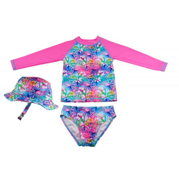 Kids Swimsuit 3pcs Set with UV Protection (8 colors) SW 08