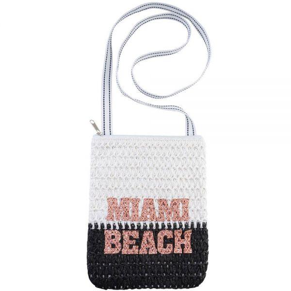 Glitter Applicated Crossbody Crochet Women Bag (5 colors) BB 356