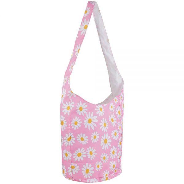 Beach Bag Daisy Design with Cross Body Snap (4 colors) B 366D