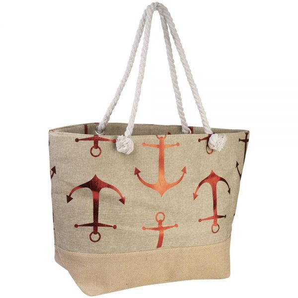 Large Tote Bag with Foil Anchor Print (4 colors) BB 525