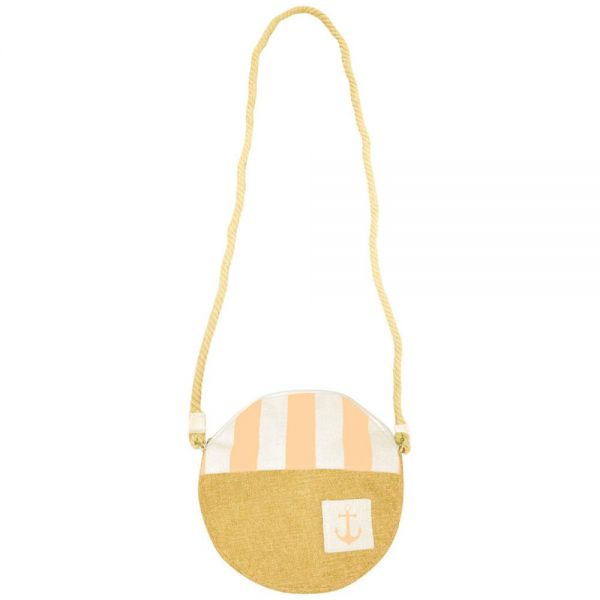 Round Crossbody Purse for Women with Rope Handle (6 colors) B 576