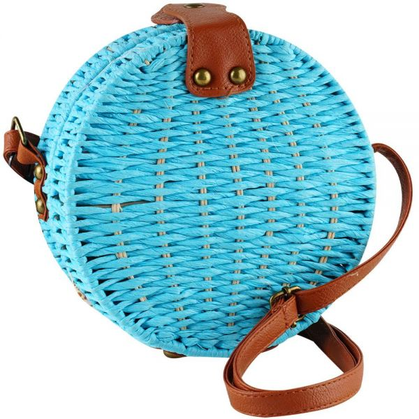 Rattan Round Fashion Bag for Women (7 colors) BB 58