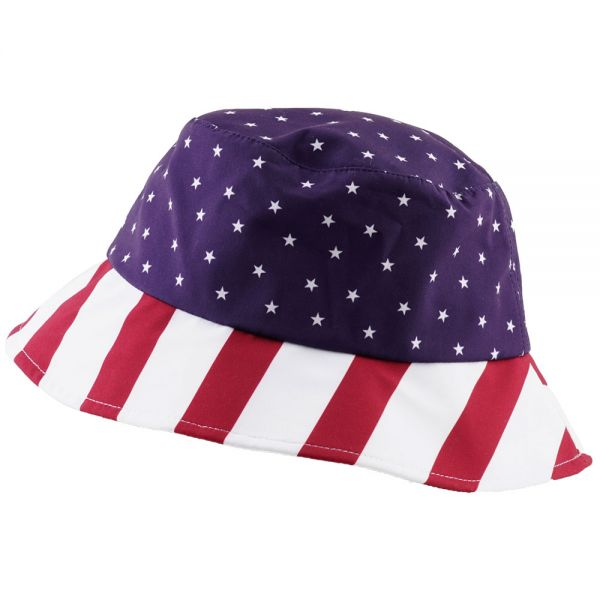Reversible Bucket Hat with American Flag Print (1 color) BK 16