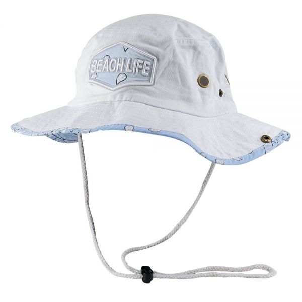 Paisley Bucket Hats with BEACH LIFE Print (7 colors) CHB 617BL