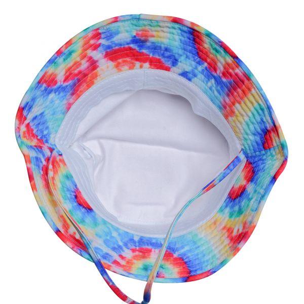 Custom Logo White Bucket Hats with Tie Dye Elements (12 colors) CHB 387B