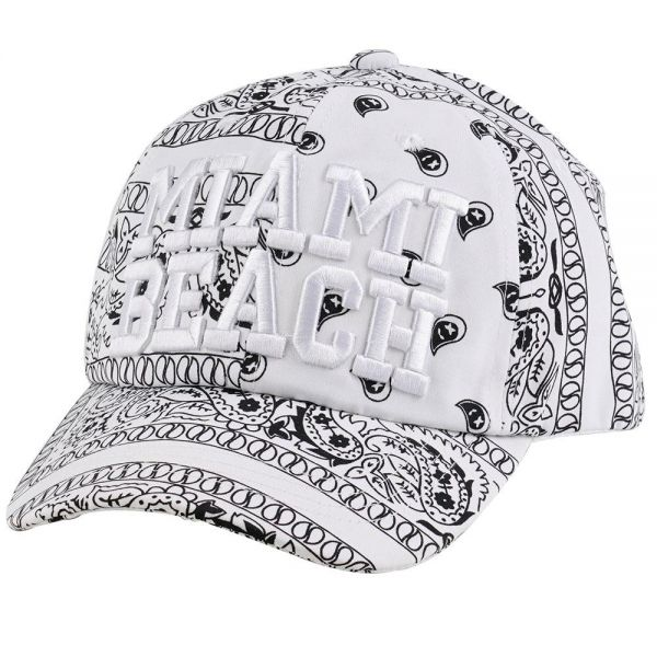 Custom Embroidered Logo Paisley Cap (4 colors)