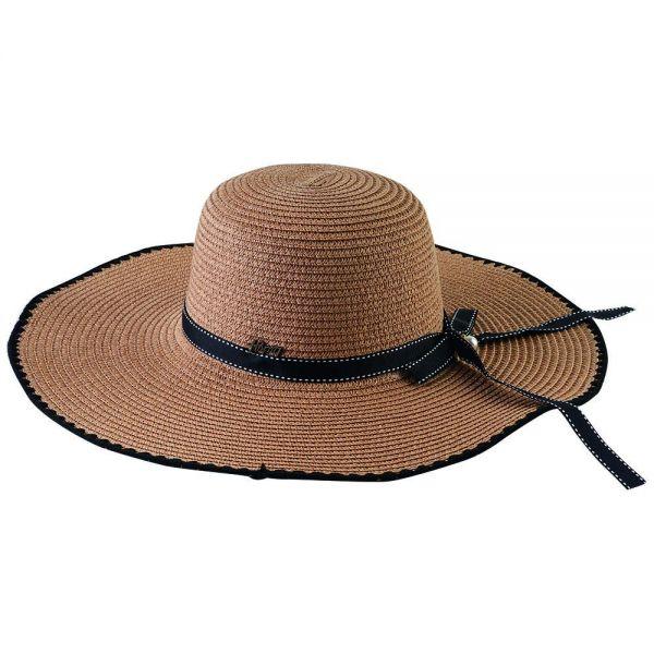 Women's Floppy Sun Hat with Bow (Min Order 24 pcs-4 colors) FH 267