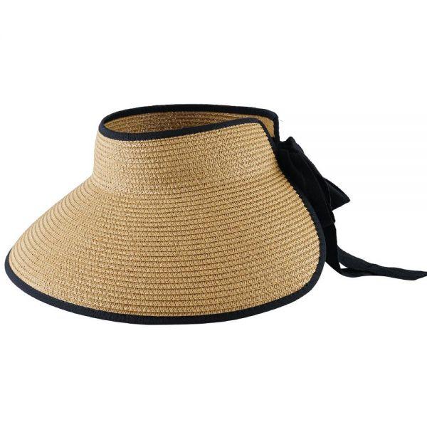 Foldable Roll Up Summer Beach Straw Sun Visor Hat (Min Order 24 pcs-4 colors) FH 330