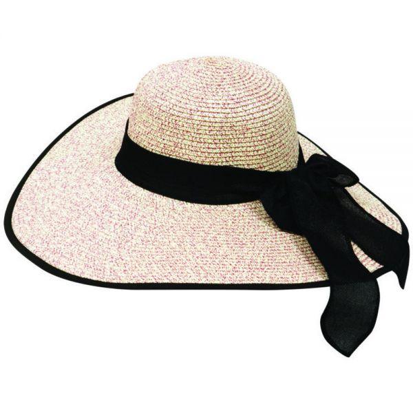 Women's Floppy Sun Hat with Wide Bow (Min Order 30 pcs -5 colors) SH 24