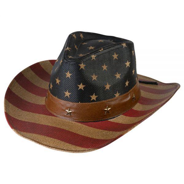 Cowboy Hat American Flag Print (2 colors) YD 039