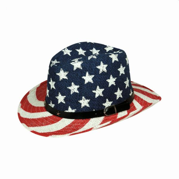 Cowboy Hat American Flag Print (3 colors) YD 024-29